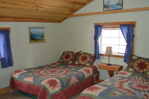 Two double beds and original artwork